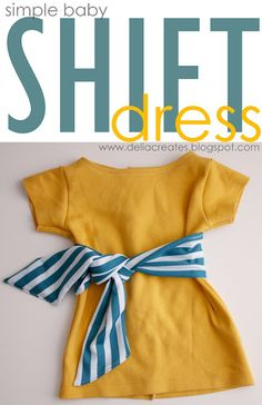 Really great tutorial for making this cute baby dress from an old T-shirt. Perfect for an inexperienced sewer like me as it even includes tips on what stitch length to use and links to show you how to sew buttonholes etc