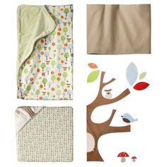 Skip Hop 4pc Crib Bedding Set with Complete Sheet - Treetop Friends
