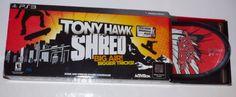 Tony Hawk Shred Big Air Bigger Tricks PS3 Bundle Set Game/SkateBoard/Receiver