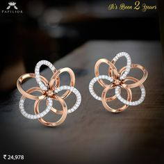 An Exceptional Pair of Diamond Earring.  It's Been 2 Years.  #papilior #diamondearringprice #diamondearrings #goldearringprice #buygoldearrings