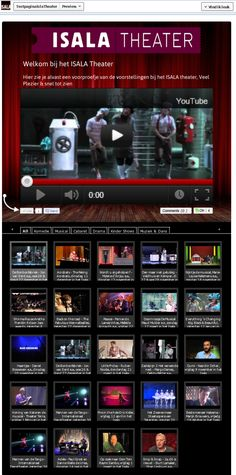 Isala Theater Preview Tab.  Cutom background + Logo  $49.95