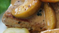 Pork loin is simmered with rice, tart apples, and dried cranberries in a slow cooker for a sweet and savory meal.
