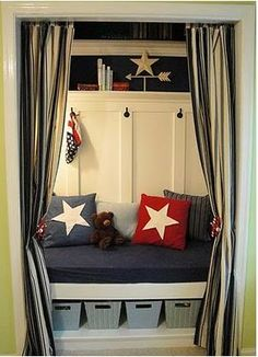 This would be awesome as a reading nook in a playroom... maybe not this particular decor though...