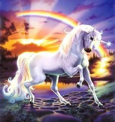 Unicorn and Rainbow by rightmind1158, via Flickr