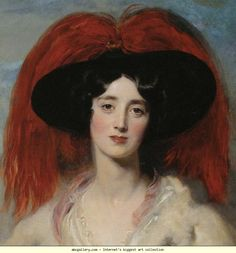 Sir Thomas Lawrence. Mrs. Robert, later Lady Peel. Detail - Olga's Gallery