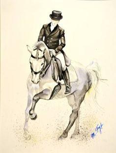 """Saatchi Art Artist Marika Fyfe; Painting, """"Dressage horse"""" #art Visit barngirl.com for more,"""