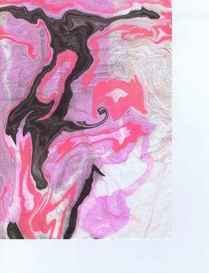 """Black Rose Purple Swirl"" Suminagashi by Sharon Giles Rice Paper, Moose Art, Japanese, Ink, Purple, Rose, Painting, Animals, Black"
