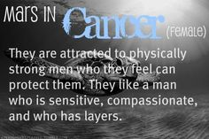 Mars in Cancer female