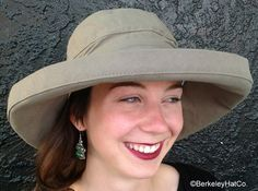 Scala Women's Cotton Sun Hat with Inner Drawstring