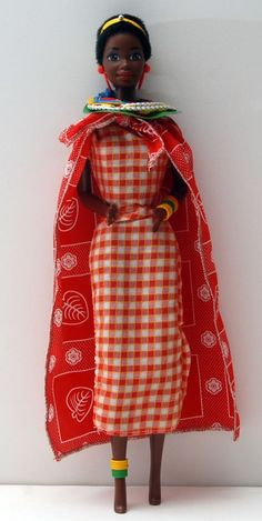 Collector Edition Barbie Dolls of the World - Kenyan African Barbie Doll! Lot D6 #DollswithClothingAccessories