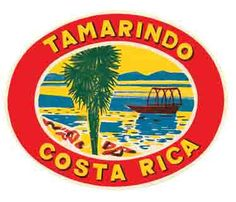Costa Rica Tamarindo Guanacaste Vintage Looking Travel Decal Sticker Label | eBay
