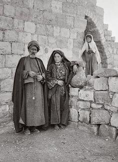 Sheikh of Ramallah and Wife: Ramallah, Palestine 1900-1920