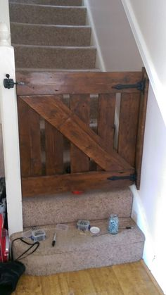 Country style pallet baby gate