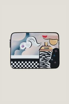 "Julie Verhoeven Clouds 11"" Computer Case.  Tote around your tech essentials safely and in style with our trusty case, updated for Spring 2017 with a whimsical cloud design. This zip around computer bag will ensure that your precious laptop will be secure no matter where you go."