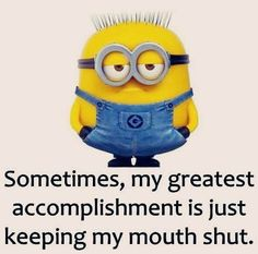 50 Hilariously Funny Minion Quotes With Attitude funny quotes quote jokes attitude lol funny quote funny quotes funny sayings hilarious minion minions sarcastic minion quotes adult jokes Funny Minion Pictures, Funny Minion Memes, Minions Quotes, A Funny, Minion Sayings, Minion Humor, Funny Stuff, Funny Things, Silly Meme
