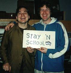 Mark Ibold and Bob Nastanovich youtubemusicsucks.com #pavement #indierock #indieband #markibold #slantedandenchanted #cult #rockband #slacker #skatermusic