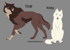 Snk Wolves - Ymir And Krista by Nicicia.deviantart.com on @deviantART