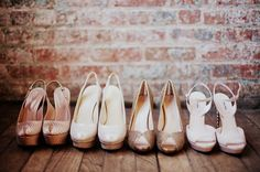 Absolutely adore the fancy wedding-day shoes.  See more at, http://www.photographyinstyle.com