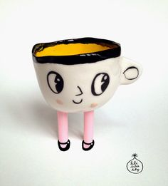 Lili Scratchy Miss Arabica, the small Sunday's morning cup Ceramic Clay, Ceramic Pottery, Pottery Art, Sculptures Céramiques, Sculpture Clay, Ceramic Sculptures, Clay Crafts, Arts And Crafts, Cerámica Ideas