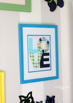 Easy Fabric Word Art {Little Boy Room Project}