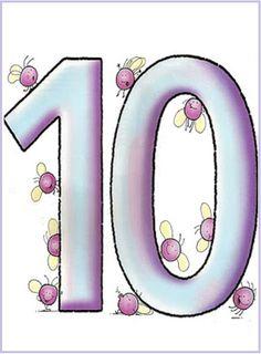 * Dieren cijferkaarten! 10-10