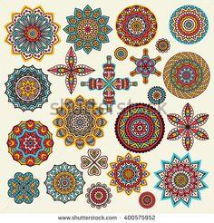 Flower Mandalas. Vintage decorative elements. Oriental pattern, vector…