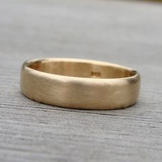 Recycled 14k Yellow Gold Band via Etsy.