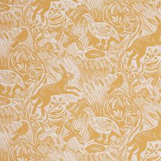 Mark Hearld - Harvest Hare - Corn - fabric for St Jude's