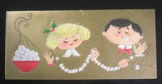 Vintage Christmas Greeting Card Couple Stringing Embossed Popcorn Garlands FOR SALE • $3.99 • See Photos! Money Back Guarantee. Vintage Christmas Greeting Card Couple Stringing Embossed Popcorn Garlands. Hallmark Card Company. Mid Century Card. Nice clean used condition with hand written note inside as seen....Check out the other Cards 352175807978