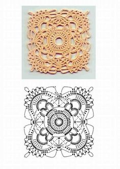 Transcendent Crochet a Solid Granny Square Ideas. Inconceivable Crochet a Solid Granny Square Ideas. Crochet Doily Diagram, Crochet Motif Patterns, Crochet Blocks, Square Patterns, Crochet Chart, Crochet Squares, Thread Crochet, Crochet Designs, Crochet Doilies
