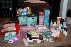 Doula bag contents.  I love the array of items in here.