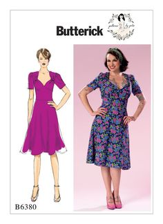 Retro Sewing Patterns By Gertie for Butterick sewing pattern. Misses' Sweeheart-Neckline Dress with Gathered Bodice - Dress Making Patterns, Vintage Dress Patterns, Clothing Patterns, Vintage Dresses, Diy Clothing, Sundress Pattern, Vintage Mode, Outfit, Inspiration
