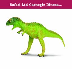 Safari Ltd Carnegie Dinosaurs Carnotaurus Toy Figure, Scale 1/50. For over 25 years, Safari Ltd. has been proud to provide this premier line of scale model, dinosaur collectibles. These award winning dinosaur replicas are authenticated by the paleontologists of the Carnegie Museum of Natural History, who houses the largest collection of dinosaur fossils in the world. Each Carnegie dinosaur can have up to 25 steps of hand painting to ensure the highest quality in the world marketplace.