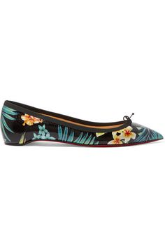 christian louboutin printed patent leather point-toe pumps