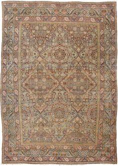 Lavar Kerman Carpet Persia ca: 1890