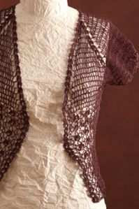 Lace #Crochet Bolero in LB Collection® Stainless Steel Wool @lionbrandyarns
