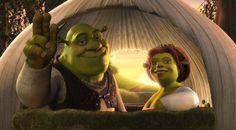 19 juni 2013:  Hartverscheurend. Foto: Shrek en Fiona zijn beide als kind slecht behandeld en toch nog goed terecht gekomen.