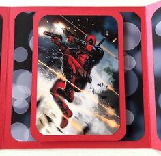 Deadpool Hail of Bullets OOAK Handmade Any Occasion Fan Card by OtherworldlyCards on Etsy https://www.etsy.com/listing/245953215/deadpool-hail-of-bullets-ooak-handmade