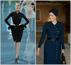 Sheikha Mozah in Dior