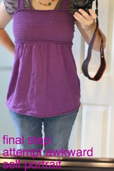 tutorial to convert maternity shirts into regular shirts