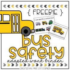 FREE Functional differentiated skill work to practice bus safety. School Bus Safety, School Bus Driver, Safety Crafts, Wheels On The Bus, Speech Therapy Activities, Health Lessons, School Projects, School Ideas, School Counselor