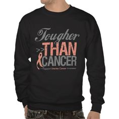 Tougher Than Cancer - Uterine Cancer Pull Over Sweatshirt