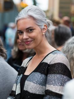 Silver-Haired Beauties http://www.silverhairedbeauties.com/ Since I'm going gray before 30-I found my inspiration to go natural rather than coloring hair which I was dreading to start......