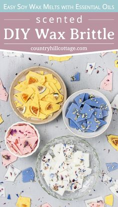 See how to make pretty DIY wax brittle! Homemade scented soy wax bark is an natural recipe to make your house smell amazing and provide relaxation. Best Wax Melts, Diy Wax Melts, Scented Wax Melts, Candle Packaging, Packaging Ideas, Design Packaging, Coffee Packaging, Bottle Packaging, Food Packaging