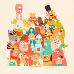 Storybook Gang by Paul Gill, via Behance