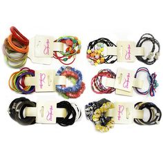 Assorted Hair Ties - Elastic Pony Holders - 12 Sets by CoverYourHair ** This is an Amazon Affiliate link. See this great product.