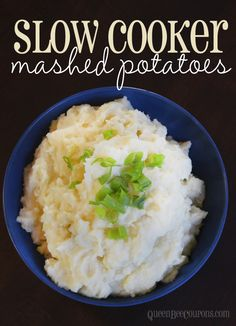 Slow cooker mashed potatoes - free up some stove top space for your holiday dinner.