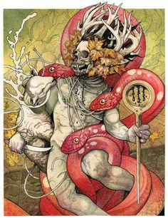 """""""Serpents Unleashed"""" Art Print by John Baizley  (Onsale Info)"""
