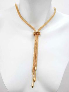 Check out the deal on Erica Zap Gold Mesh Bolo Necklace at Precious Accents, Ltd. Or Mat, Jewelry Design, Gold Necklace, Mesh, My Style, Necklaces, Gold Pendant Necklace, Fishnet