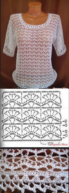 46 Ideas For Crochet Blusas Ganchillo Diy Crochet Bag, Pull Crochet, Gilet Crochet, Crochet Shirt, Learn To Crochet, Crochet Clothes, Easy Crochet, Crochet Lace, Crochet Summer